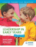 Leadership in Early Years 2nd Edition  Linking Theory and Practice PDF