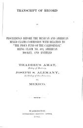 Memorial of the United States of America in the Matter of the Claim of the Pious Fund of the Californias Against the Republic of Mexico