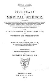 Medical Lexicon: A Dictionary of Medical Science ...