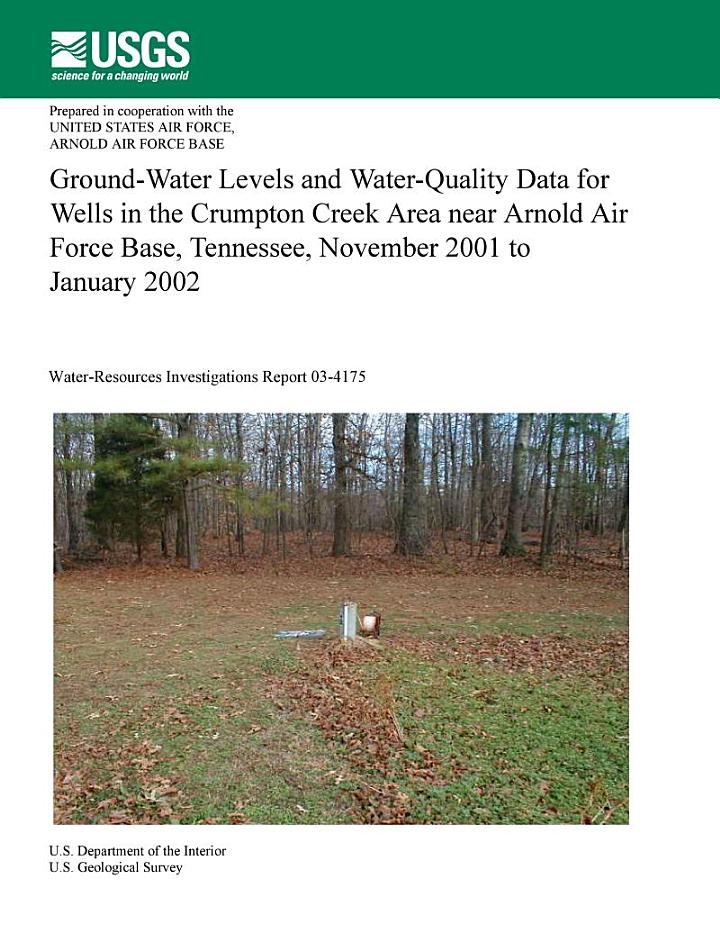 Ground-water levels and water-quality data for wells in the Crumpton Creek...