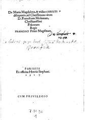 De Maria-Magdalena et triduo Christi disceptatio I et II