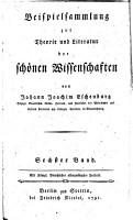 Beispielsammlung zur Theorie und Literatur der sch  nen Wissenschaften PDF
