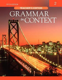 GRAMMAR IN CONTEXT  2 TEACHER S EDITION  FIFTH EDITION  PDF