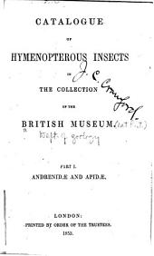 Catalogue of hymenopterous insects in the collection of the British museum ...