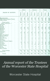Annual Report of the Trustees of the Worcester State Hospital: Volume 75
