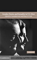 Gender  Desire  and Sexuality in T  S  Eliot PDF