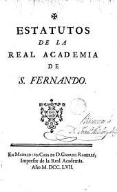 Estatutos de la Real Academia de San Fernando