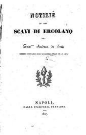 Notizie su gli scavi di Ercolano del can.co Andrea de Iorio