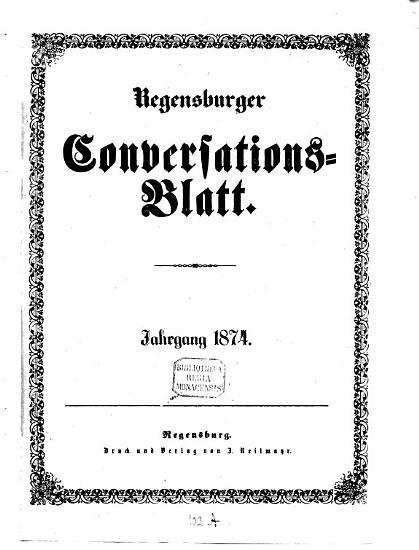 Regensburger Conversations Blatt PDF