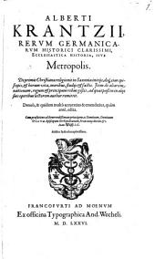 Metropolis sive historia ecclesiastica Saxoniae