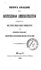 Nuova Analisa del Contenzioso Amministrativo