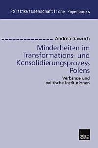 Minderheiten im Transformations  und Konsolidierungsprozess Polens PDF
