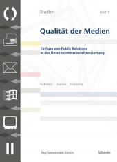 SQM 4/2011 Einfluss von Public Relations in der Unternehmensberichterstattung