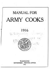 Manual for Army Cooks, 1916