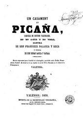 Un Casament en Picaña: sarsuela de costums valensianes en un acte y en vers