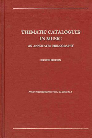 Thematic Catalogues in Music PDF