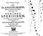 Diss. de fortuna spuriorum