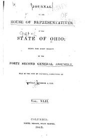 Journal of the House of Representatives ... General Assembly of Ohio ...: Volume 42