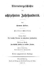 Geschichte der deutschen Literatur im 18. Jahrhundert: Abt. 1 und 2 Das klassische Zeitalter der deutschen Literatur