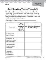 Put Me in the Zoo Post Reading Activities PDF