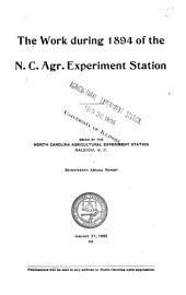 Annual Report of the North Carolina Agricultural Experiment Station: For ..., Volume 17