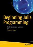 Beginning Julia Programming PDF