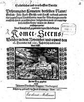 Gründlicher Bericht von dem Ursprung der Cometen aus Anlaß des gegenwärtigen Cometsterns 1680: Mit 1 Kupfertafel