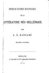 Précis d'une histoire de la littérature néo-hellénique: Volume2
