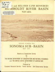 Water and Related Land Resources  Humboldt River Basin  Nevada  Sonoma Sub Basin PDF