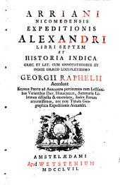 Expeditio Alexandri: libri VII.