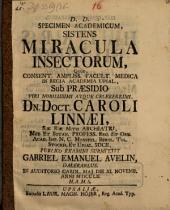 Specimen acad. sistens miracula insectorum