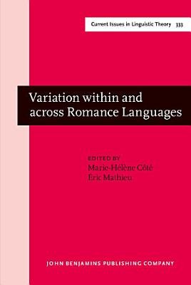 Variation within and across Romance Languages PDF
