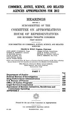 Commerce  Justice  Science  and Related Agencies Appropriations for 2012 PDF