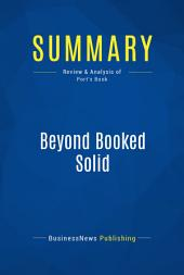 Summary: Beyond Booked Solid: Review and Analysis of Port's Book