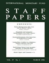 IMF Staff papers: Volume 37, Issue 1