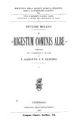 """Il """"Rigestum comunis Albe"""": Volume 20"""