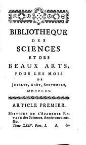 Bibliothèque des sciences, et des beaux arts: Volume24
