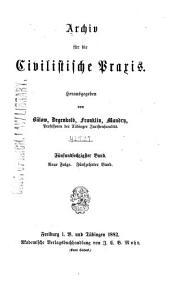 Archiv für die civilistische Praxis: Band 65