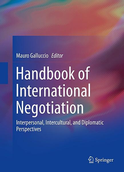 Handbook of International Negotiation PDF