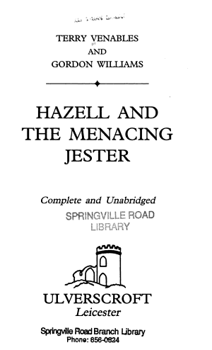 Hazell and the Menacing Jester