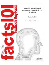 Financial and Managerial Accounting Chapters 15 - 24