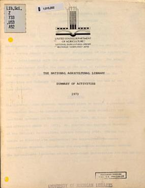 The National Agricultural Library PDF