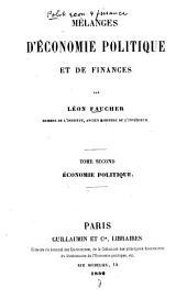 Mélanges d'économie politique et de finances: Histoire financière