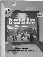 Team Nutrition School Activity Planner PDF