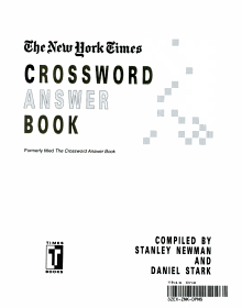 The New York Times Crossword Answer Book PDF