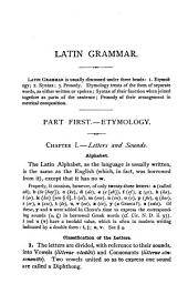 Allen and Greenough's Latin Grammar: For Schools and Colleges : Founded on Comparative Grammar