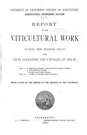 Report of the Viticultural Work During the Seasons 1883-4 and 1884-5 [1885 and 1886, 1887-89, 1887-93]: Volume 17