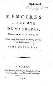 Mémoires du comte de Maurepas: Volume4