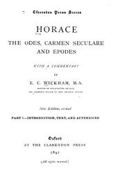 Odes, Carmen Seculare and Epodes