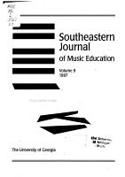 Southeastern Journal of Music Education PDF